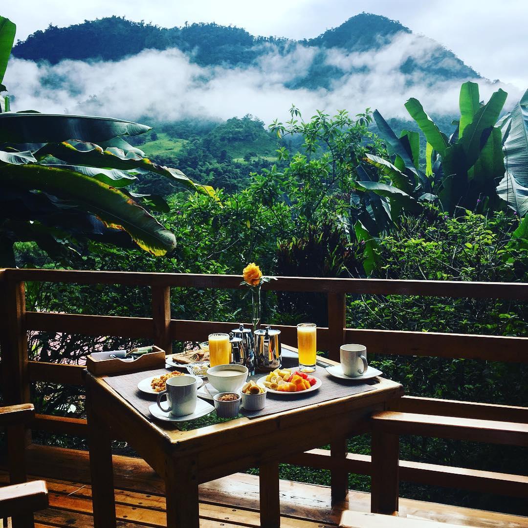 Mindo Ecuador Breakfast