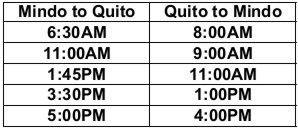 Bus schedule1 -