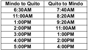 Bus schedule2 -